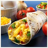 cup egg whites 2 tablespoons kraft natural mexican style four cheese cup diced vegetables, such as tomatoes, celery, or bell peppers 1 thomas' sahara whole wheat wrap 4 tablespoons pace pico de gallo cup hass avocado, sliced or cubed Healthy Breakfast Options, Quick And Easy Breakfast, Breakfast Recipes, Breakfast Ideas, Breakfast Tacos, Healthy Breakfasts, Speedy Breakfasts, Healthy Meals, Healthy Food