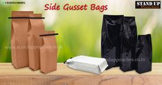 #Gussetbags are usually filled with various products ranging from; #Organicproducts, #proteinpowder, #petfood, #coffee, #tea, #pharmaceuticalproducts. We produce both a stock option and a custom option bags.  more information whatsapp. + 91 6351186091