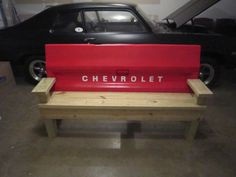 Unique truck tailgate bench. $325.00, via Etsy.