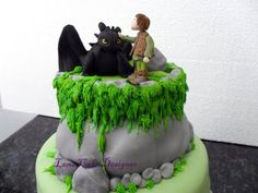 How to Train your Dragon cake  Bolo Como Treinar seu Dragão