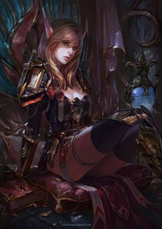 World of Warcraft by Chenbo Fantasy Art Village Social Network for Fantasy, Pinup, and Erotic Art Lovers! Fantasy Girl, Fantasy Warrior, Fantasy Women, Dark Fantasy, Final Fantasy, World Of Warcraft, Art Warcraft, Fantasy Inspiration, Character Inspiration