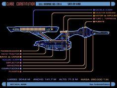 Colored schematic of Constitution-class (refit) Enterprise