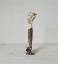 Silver Bud Vase, Sil
