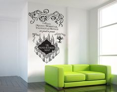 Harry Potter The Marauder's Map Moony Warmtail Padfoot Prongs Wall Decal Sticker vinyl Wall Art ETWD-0787