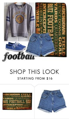 """Football"" by helendaly ❤ liked on Polyvore featuring Thumbprintz and Keds"