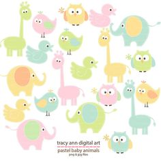 Pastel Animal Clip Art    baby animal di TracyAnnDigitalArt, $10.95