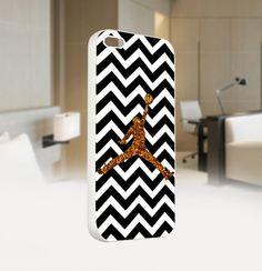 Air Jordan Chevron Black Gold - For IPhone 5 White Case Cover