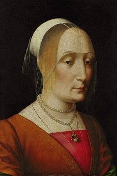 "history-of-fashion: ""15th century Benedetto Ghirlandaio - Portrait of a Lady """