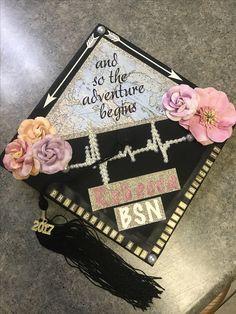 graduation cap •  #BSN #nursing #graduation #Classof2017