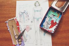 Stardustsoul's paper doll free download. Absolutely gorgeous drawings You could also make your own paperdoll of yourself and your closet.