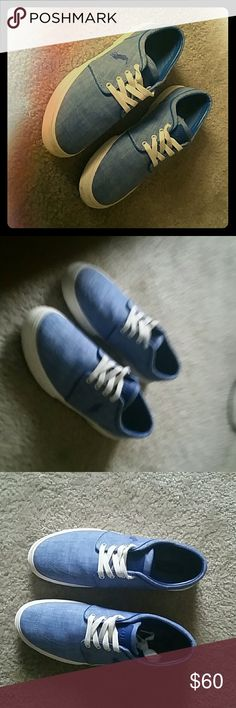 Polo Ralph Lauren shoes Classic Blue with white outline Polo by Ralph Lauren Shoes Flats & Loafers