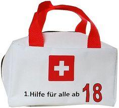 Witzige Geschenkverpackung 18. Geburtstag Scherzartikel Tasche 1. Hilfe