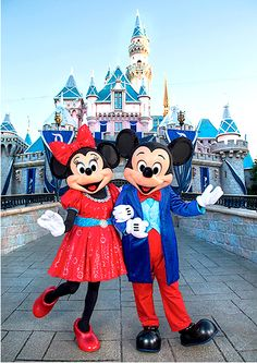 Minnie and Mickey Mouse get new outfits for Disneyland 60th Anniversary Diamond Celebration.