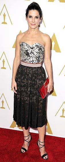 Sandra Bullock rocks Stella McCartney at the Oscar Nominee's Luncheon