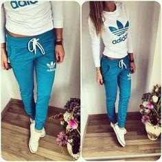 Imagen de adidas, blue, and style
