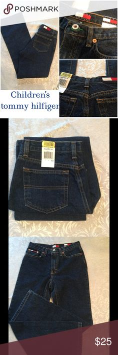 "🆕 Children's Tommy Hilfiger Jeans ! 💙 My first children's item ! 😁 Tommy Hilfiger Basic jeans ! Inseam is 28"" inches ! 100% cotton ! Brand spanking new ! 💙 Tommy Hilfiger Botto"