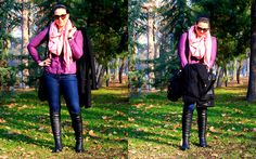 I'm a sucker for pink-purple combo (by GlamourGirl GG) http://lookbook.nu/look/4496543-I-m-a-sucker-for-pink-purple-combo