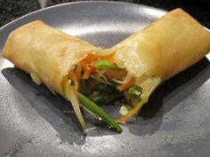 A fresh vegetarian spring roll
