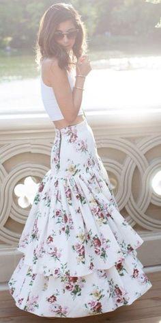 Floral Ruffled Maxi