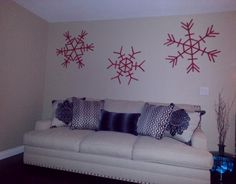 Snowflakes from jumbo popsicle sticks