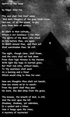 """""""Spirits of the Dead"""" - """"A mystery of mysteries!""""                                                                                                                                                                                 More"""
