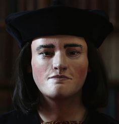 The reconstruction of Richard III's head. Richard was depicted in a play by William Shakespeare as a hunchbacked usurper who left a trail of bodies , including those of his two  nephews, murdered in the Tower of London. Many historians say that image is unfair, and argue Richard's reputation was smeared by his Tudor successors. That's an argument taken up by the Richard III Society, set up to re-evaluate the reputation of a reviled monarch.