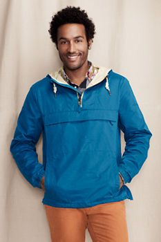 Men's Waxed Cotton Blend Anorak from Lands' End