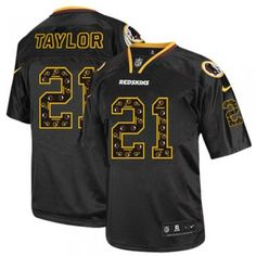 Package - mail cheap jerseys!Nike Washington Redskins #21 Sean Taylor Elite New Lights Out Black Men NFL Stitched Jersey