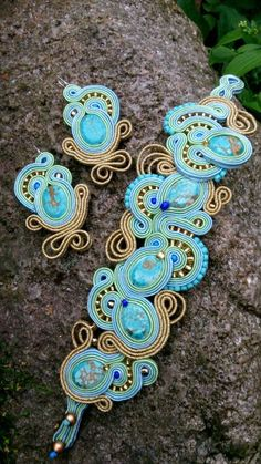 soutache - earrings and bracelet ;)  mishtiart.blogspot.com - follow me! :)