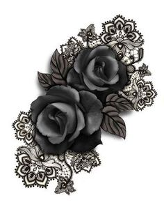 Rose and lace tat .... maybe as cover up for cross... Browse through over 7,500+ high quality unique tattoo designs from the world's best tattoo artists!