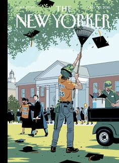 """The New Yorker - Monday, May 30, 2016 - Issue # 4641 - Vol. 92 - N° 16 - Cover """"Commencement"""" by R. Kikuo Johnson"""