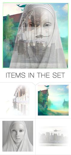 """The dream of a nun ..."" by lablanchenoire ❤ liked on Polyvore featuring art"