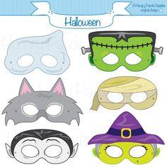 Halloween Masks, printable halloween costume, halloween printable, monster masks