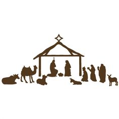 Nativity Scene scrapbook clip art christmas cut outs for cricut cute svg cut files free svgs cute svg cuts