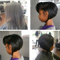 STYLIST FEATURE| Love this #transformation done by #LittleRockStylist @GlamherbySabrinaB❤️ Instead of doing the #bigchop, she did a #bobcut on @nacolenacole✂️ Love itNo weave! #VoiceOfHair