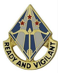 31st ADA (Air Defense Artillery) Brigade Unit Crest (Ready and Vigilant)