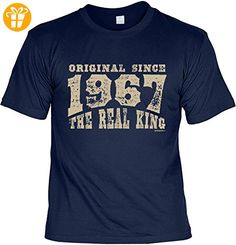 Jahrgangs/Geburtstags/Spaß-Shirt/Fun-Shirt: Original Since 1967 The Real King geniales Geschenk (*Partner-Link)