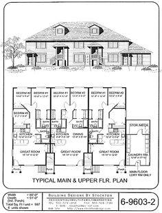 5 plex 15 39 wide unit and have 1 car garage apartment for 6 plex floor plans