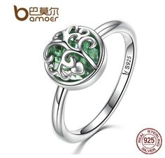 $14.99 USD  Rings,fashion, surface width: 2mm, party, Silver, brand name: Bamoer Style: Cute/Romantic.