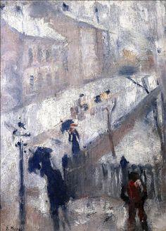 Street in Winter 1885. Edward Munch (1863-1944)