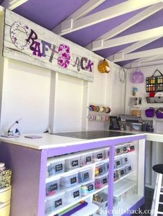 From backyard shed to craft studio