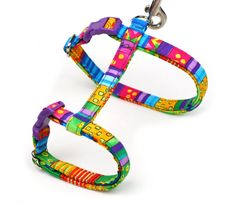 Hey, I found this really awesome Etsy listing at https://www.etsy.com/listing/267272768/colorful-cat-harness-happy-go-lucky