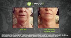The Facial wrap still does the same things that the Body Wrap does, it tightens, tones and firms, but it also wakes up tired skin with a burst of refreshing botanicals, it softens the appearance of fine lines and wrinkles, and it soothes with continuous hydration. You can wear them every single day if you want and can wear them the same time as the body wrap for a full spa effect! These are especially great to use during the winter months when skin gets dry (for those of you from the North…