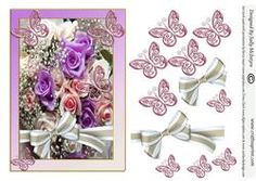 Purple Roses Butterflies And Bows