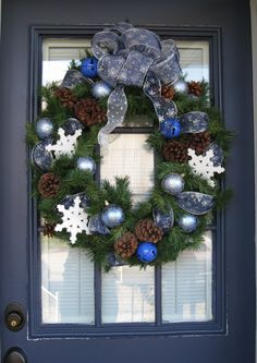 This looks exactly like the wreath that my mom made for my front door