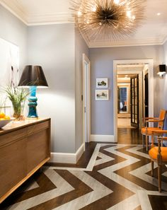 Wake up an entryway with paint. A thin coat on the floor lets the woodgrain show through.