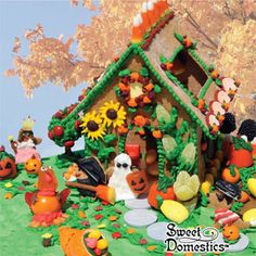 Autumn Halloween Gingerbread House