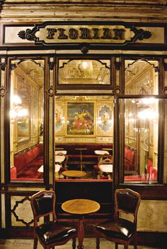 Caffè Florian, Venice   Coffee house established in Venice, Italy in 1720. It is the oldest one in the world in continuous operation