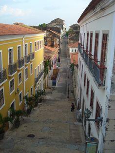 Centro histórico em São Luís, Maranhão - BRASIL