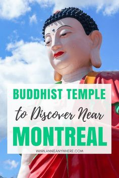 About an hour drive from Montreal, there's one of the biggest Buddhist Temple in the province. A sure off-the-beaten-path place to discover while you're in Canada. Ontario, Old Quebec, Buddhist Temple, Short Trip, The Province, Vietnam Travel, Day Trip, Montreal, Annie